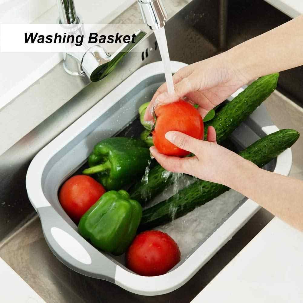 Mutfak Katlanır Kesme Tahtası Saklama Sepeti