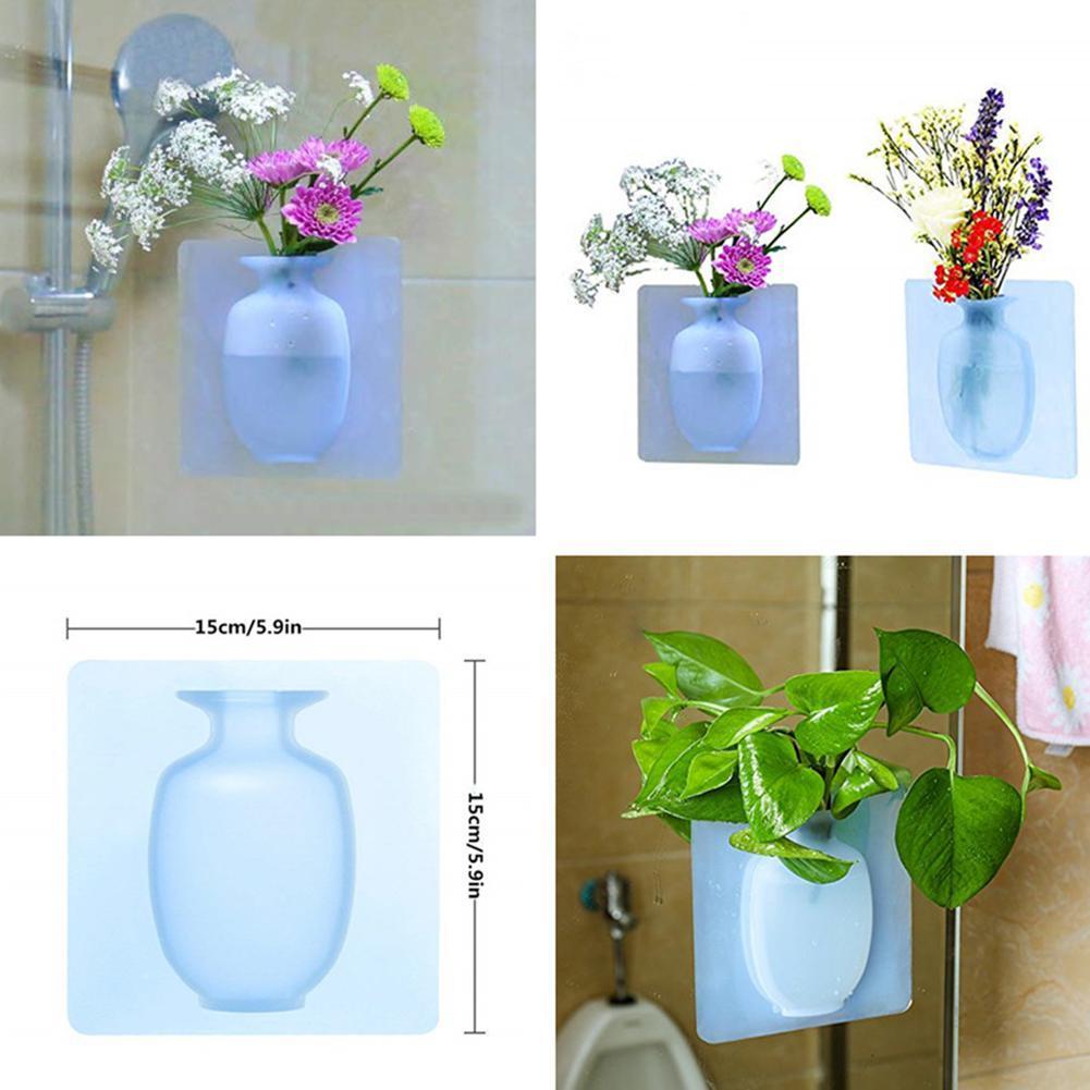 Yapıştırılabilir Silikon Vazo / Sihirli Vazo
