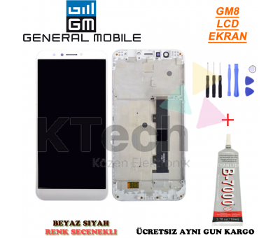General Mobile GM8 LCD Dokunmatik Ekran