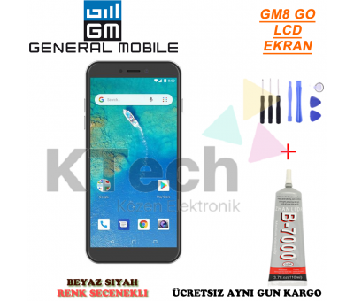 General Mobile GM8 Go LCD Ekran ve Dokunmatik Full Çıtalı