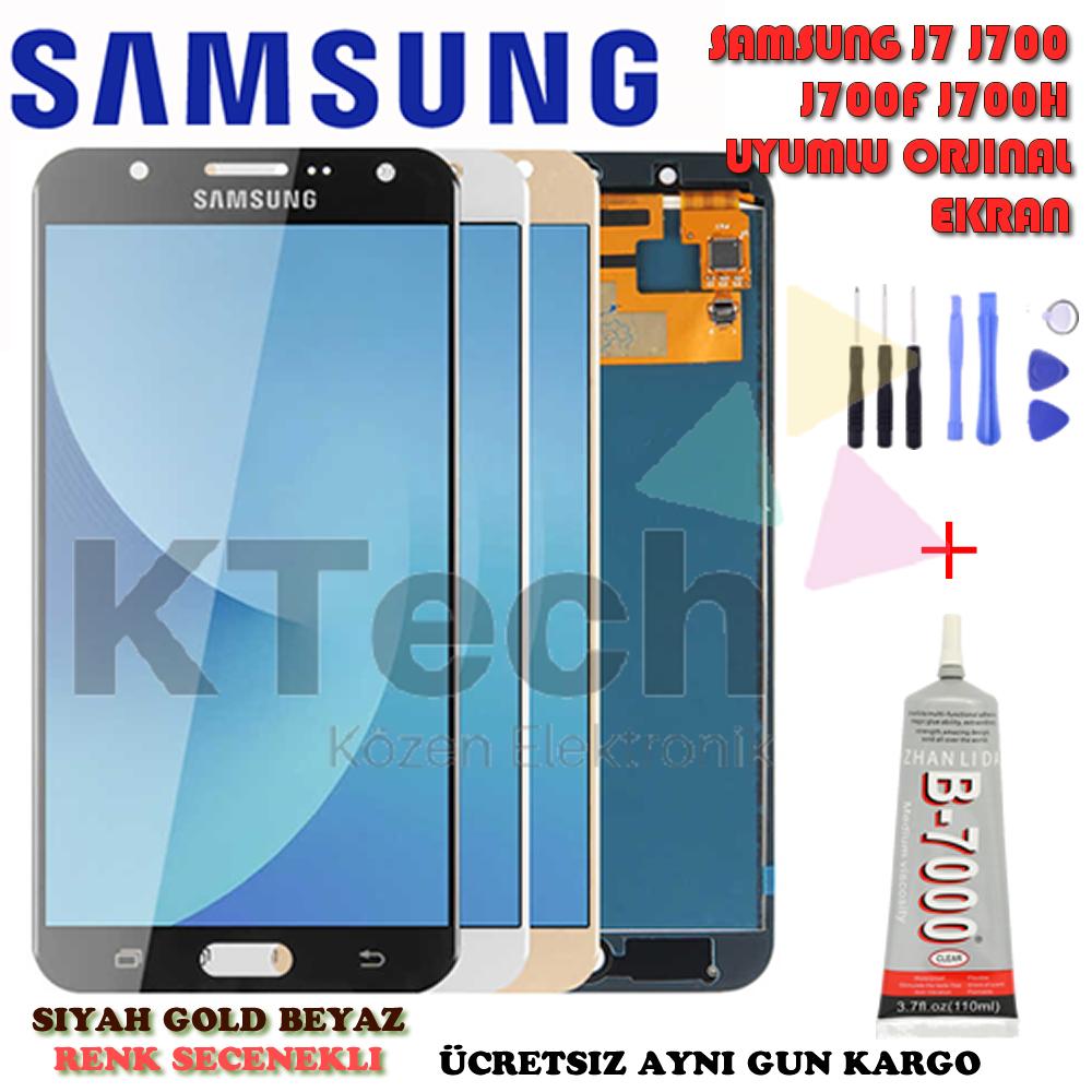 Samsung Galaxy J7 J700 J700F J7 2015 LCD Ekran  Dokunmatik Orjinal Revize
