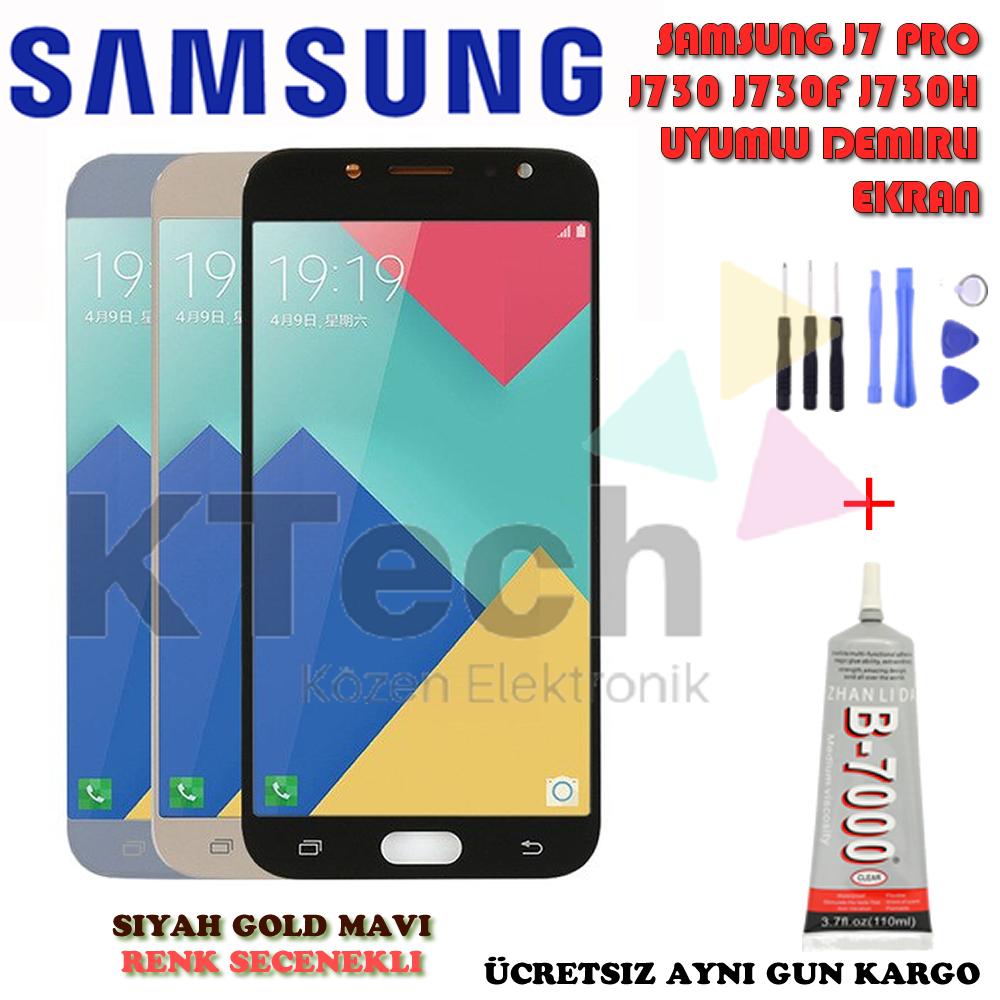 Samsung Galaxy J7 J730 Pro 2017 LCD Ekran ve Dokunmatik Demirli
