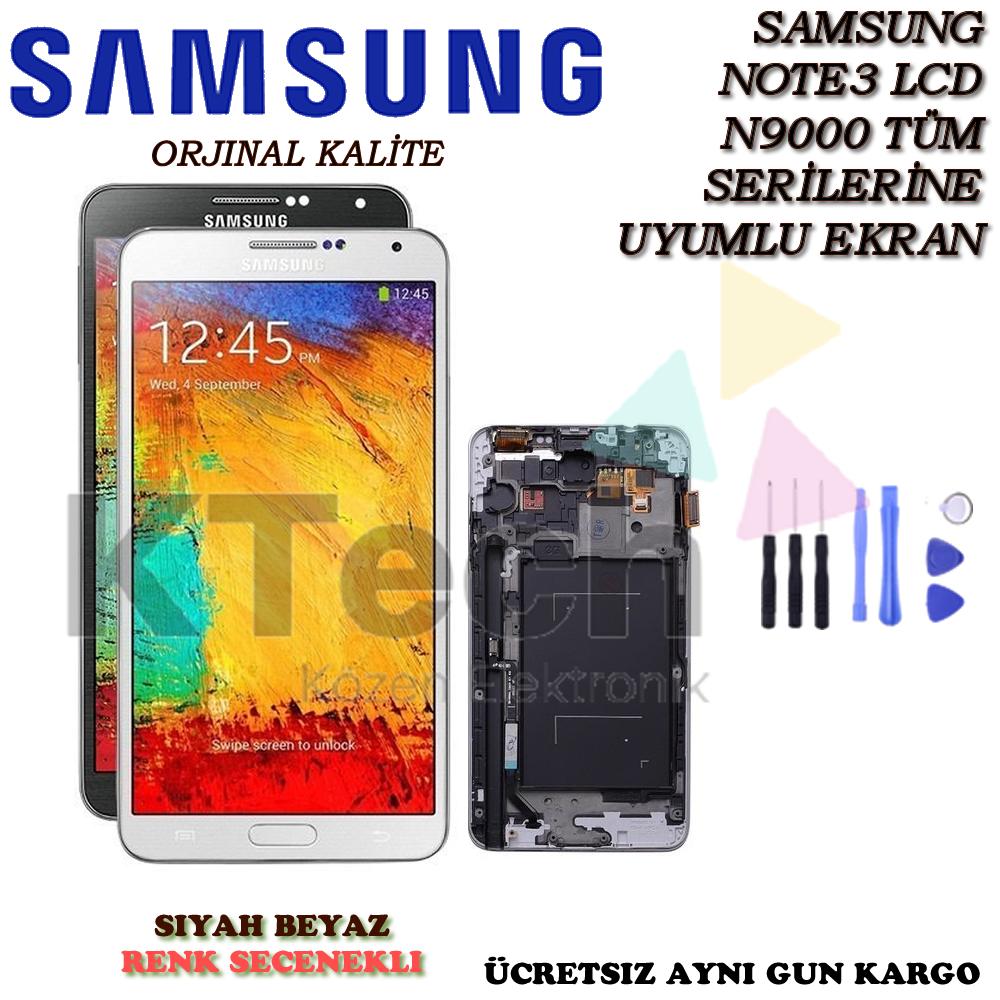 Samsung N9000 Note 3 Lcd Ekran Revize Orijinal Full Çıtalı Ekran