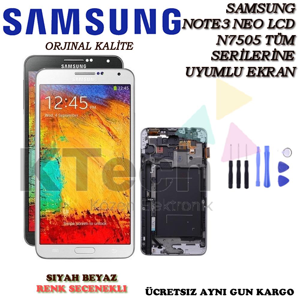 Samsung N7505 Note 3 Neo Lcd Ekran Revize Orijinal Full Çıtalı Ekran