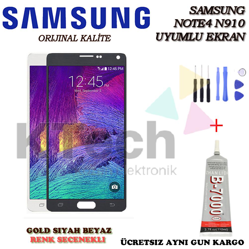 Samsung N910 Note 4 Lcd Ekran Revize Orijinal  /  Ekran Koruyucu Hediye