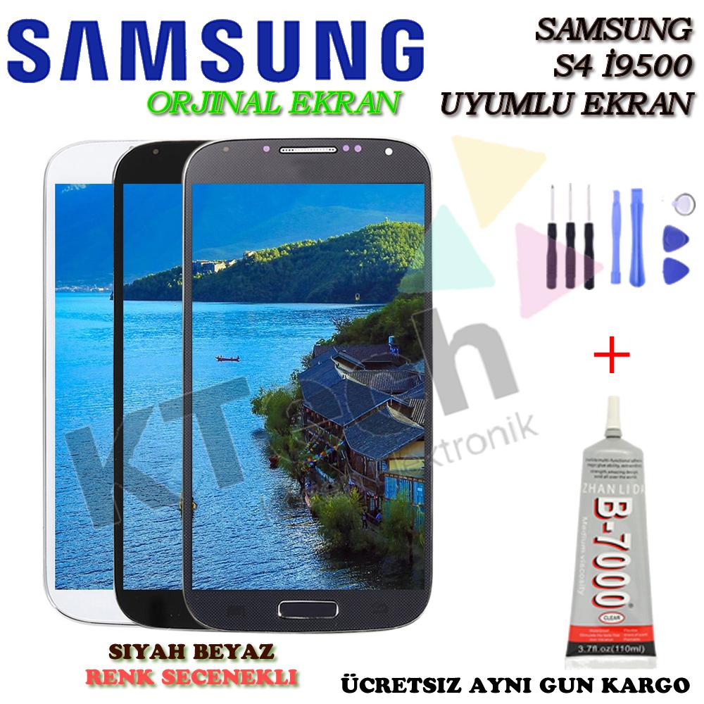 S4 i9500 LCD Ekran Dokunmatik Orjinal Revize