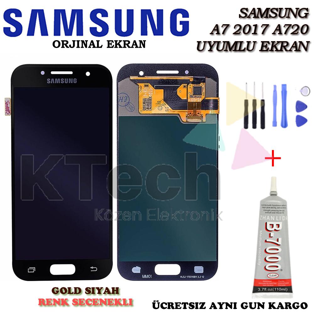Samsung Galaxy A7 A720 2017 Lcd Dokunmatik Ekran Orjinal Revize