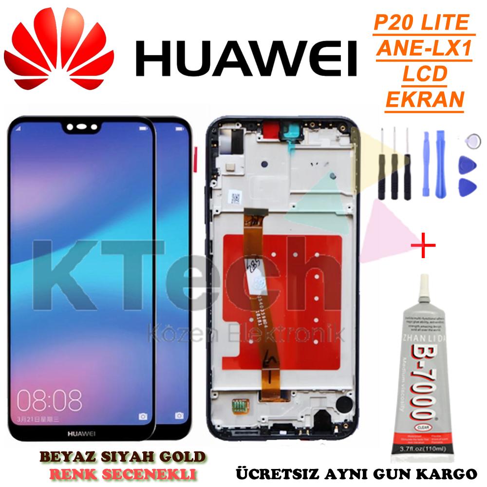 Huawei P20 Lite Çıtalı FULL LCD Dokunmatik Ekran