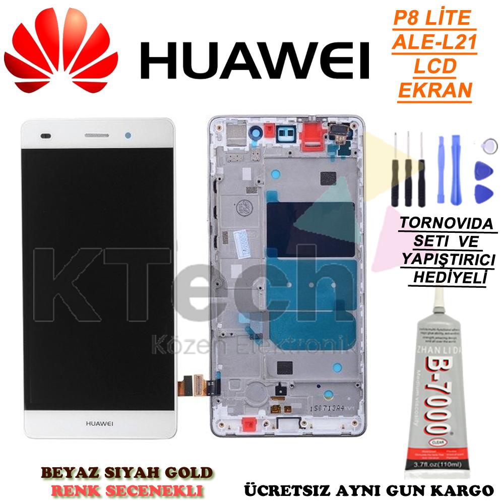 Huawei P8 Lite ALE-L21 Lcd Dokunmatik Ekran Full Çıtalı