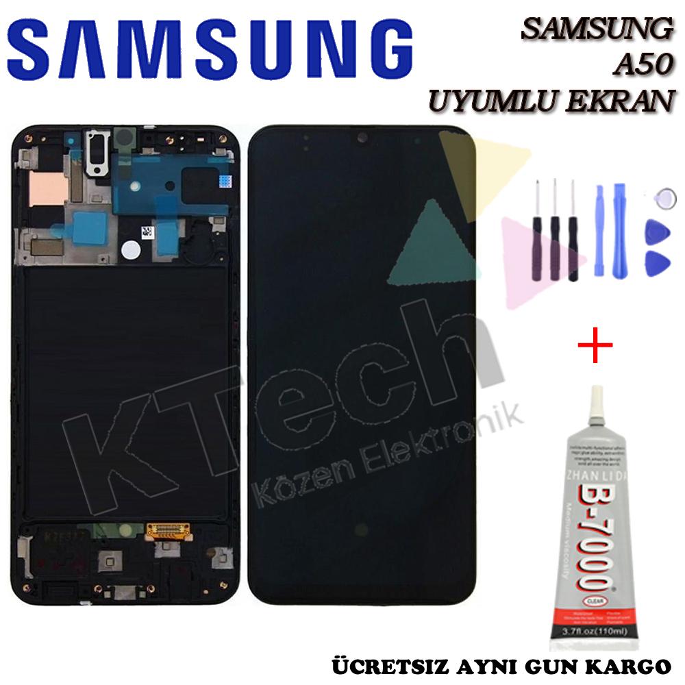 Samsung A50 LCD Ekran Dokunmatik  Orijinal Servis