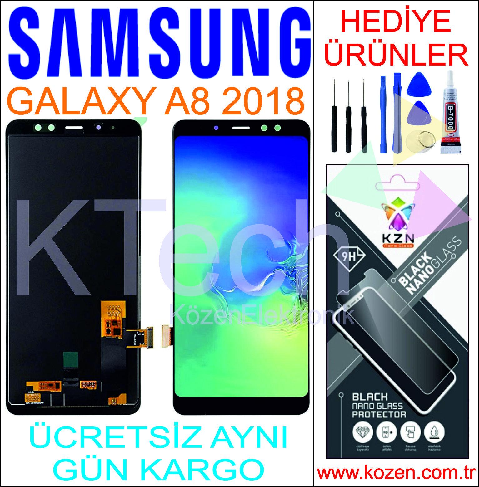 SAMSUNG GALAXY A8 2018 (A530F) LCD DOKUNMATİK ORJİNAL REVİZE EKRAN