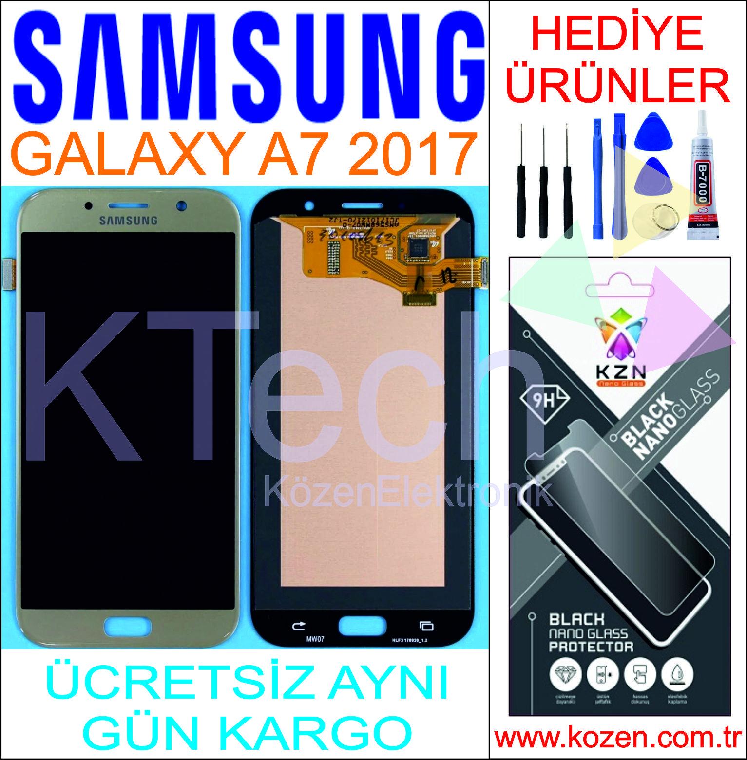 SAMSUNG GALAXY A7 2017 (A720F) LCD DOKUNMATİK ORJİNAL REVİZE EKRAN