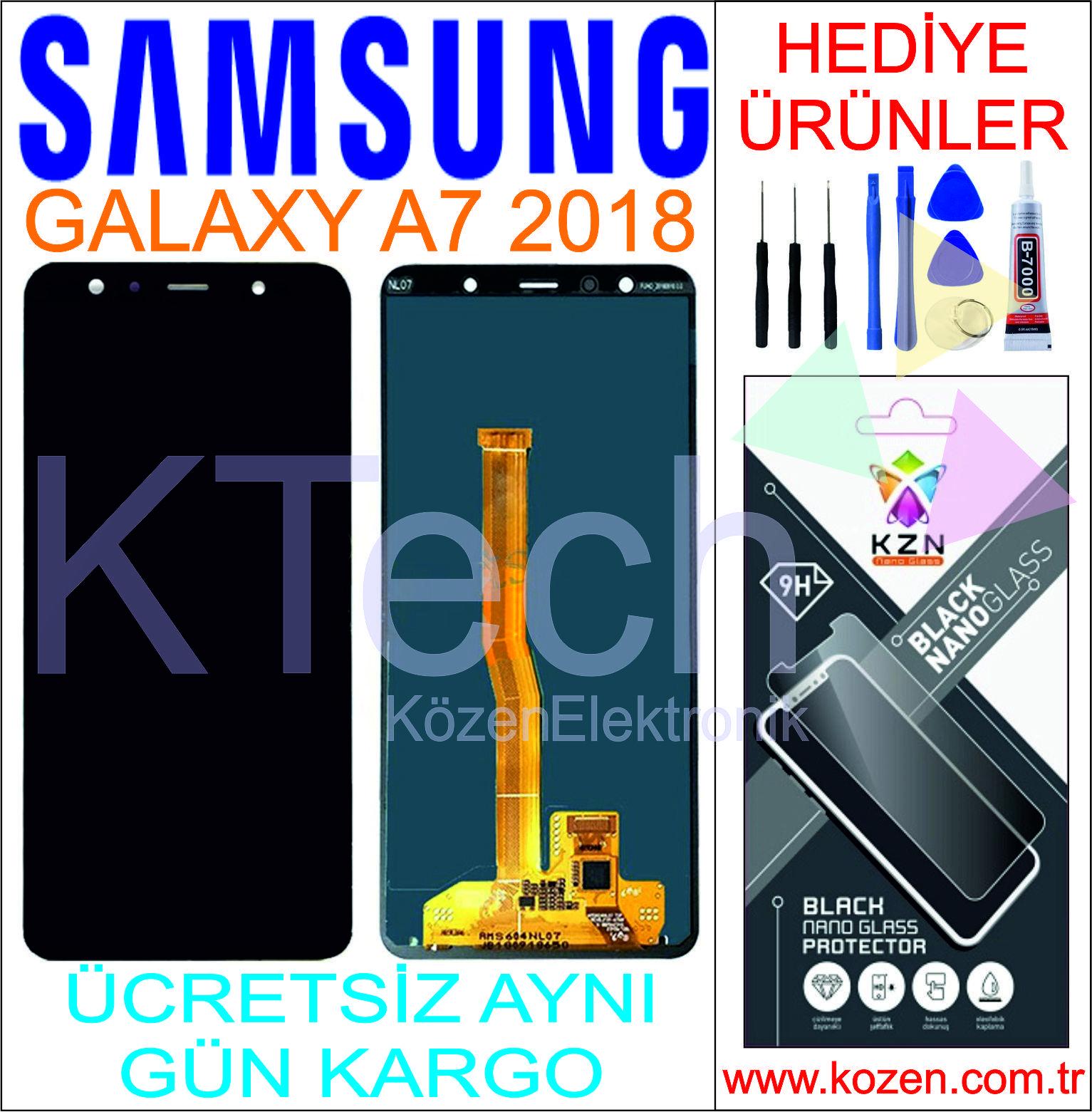 SAMSUNG GALAXY A7 2018 (A750F) LCD DOKUNMATİK ORJİNAL REVİZE EKRAN