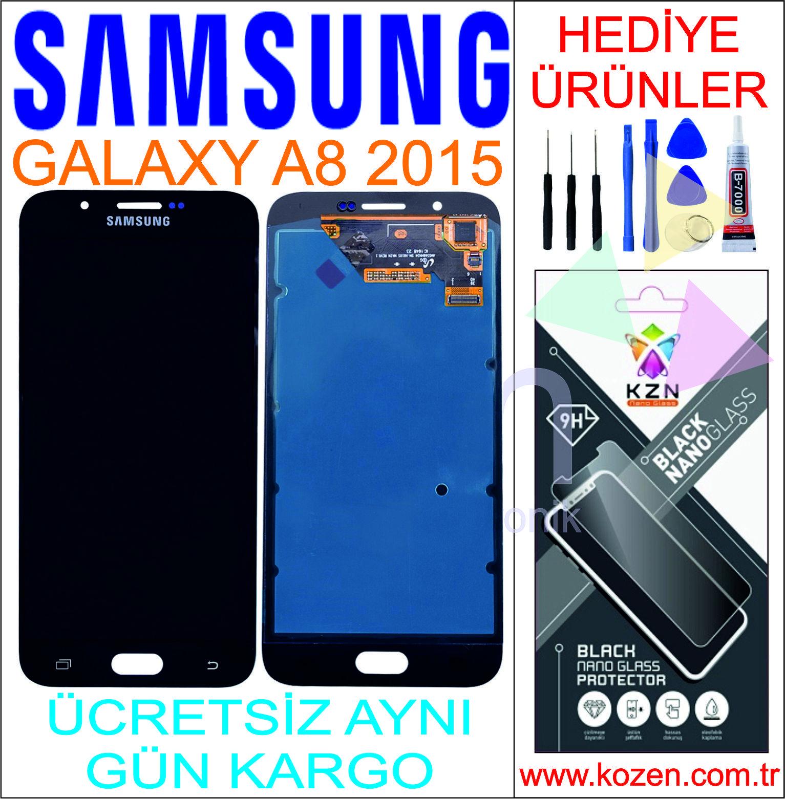 SAMSUNG GALAXY A8 2015 (A800F) LCD DOKUNMATİK ORJİNAL REVİZE EKRAN