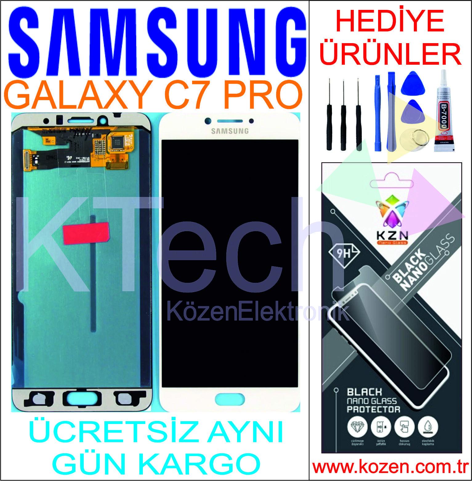 SAMSUNG GALAXY C7 PRO (C7010F) LCD DOKUNMATİK ORJİNAL REVİZE EKRAN