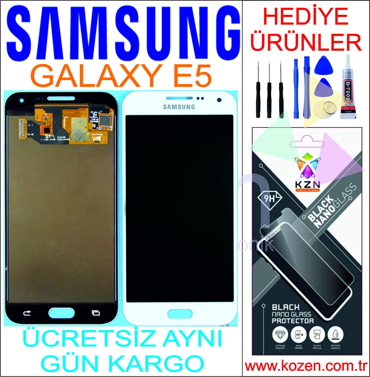 SAMSUNG GALAXY E5 (E500) LCD DOKUNMATİK ORJİNAL REVİZE EKRAN